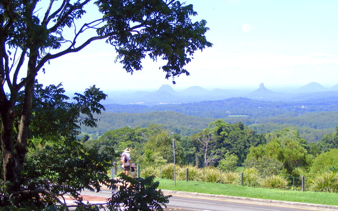 You can view the Glass House Mountains from the reserve