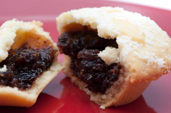 mince pie christmas stock images