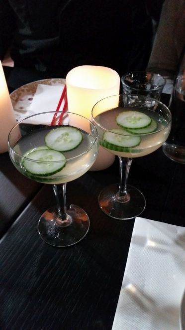 Mint Cucumber Martini's at Little Viet Kitchen Manly