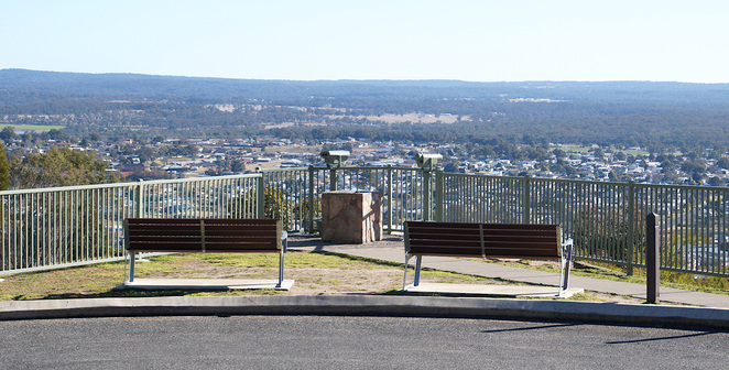 Take rest with a view at the Mt Marlay lookout