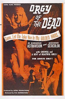 Orgy Of The Dead, Sexy, Orgy, Horror, 60's, The Mummy, The Wolf Man, Werewolf, Horror Movie, Horror Film, Nudie Cuties, Swinging Sixties, Dance, Dance Movie, Zombie, Vampire, Goth, Gothic