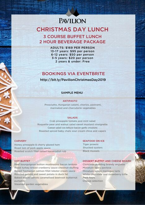 pavilion on northbourne, christmas day lunch, canberra, buffet, kids, families, whats on, canberra, christmas day, christmas lunch, christmas dinner, 2020, ACT, events, eventbrite,