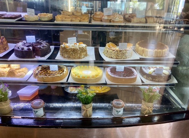 Picnic Point has a range of cakes and slices available