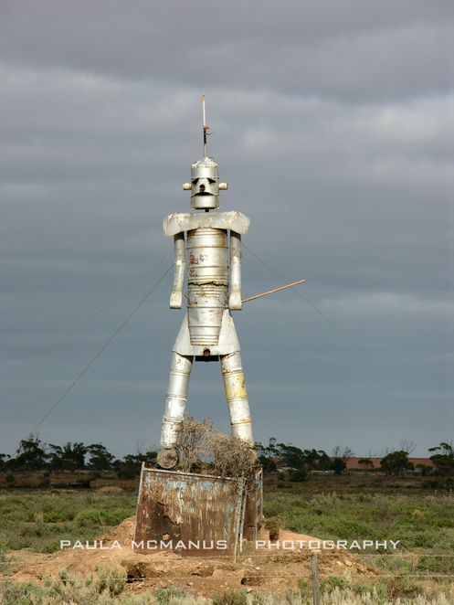 Port Wakefield Road Protest Sculpture at Lower Light