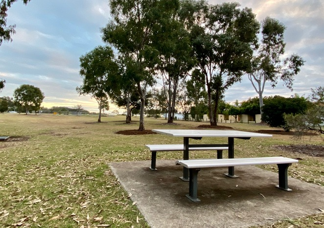 Picnic tables, and BBQs near to the beach, make Raby Bay Esplanade Park an ideal family destination
