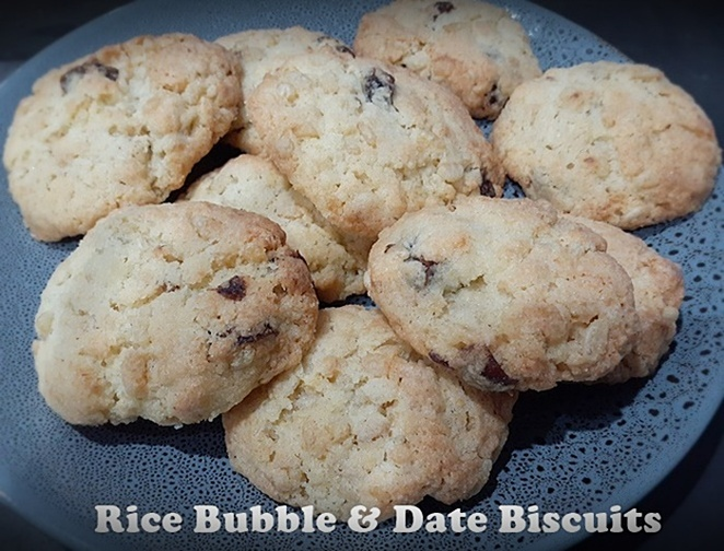 rice bubble, dates, biscuits, cookies, kids, families, easy recipes, budget, family, kids cooking,