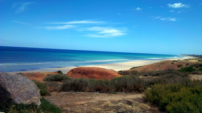 sellicks beach, fleurieu peninsula, south australia, beach, summer, coastal walking trail