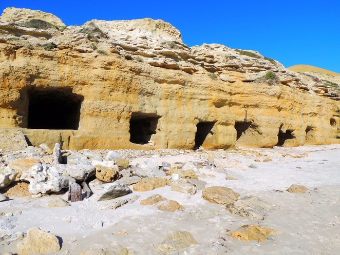 south of adelaide, port willunga, the beach, on the beach, beaches, nudist beaches, caves, ruins, shipwreck, boats