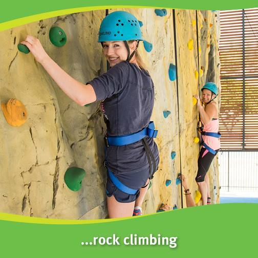Sunshine Coast Recreation Centre, casual indoor rock climbing, casual caving, big kids, little kids, entry costs include all equipment, enclosed shoes, long pants, Saturdays, winter school holidays, climbing after dark, caves replicate natural caves, spelunking, one hour sessions for caving, caving after dark, birthday parties, scale new heights, Currimundi