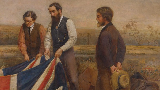 The burial of Burke (detail), William Strutt, 1911, oil on canvas, State Library of Victoria
