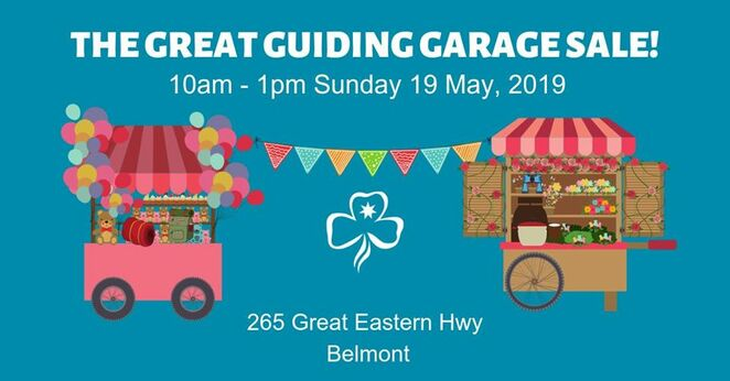 the great guiding garage sale 2019, community event, fun things to do, belmont, girl guides wa, art and craft, sausage sizzle, baked goods, homemade goods, popcorn, girl buide biscuits, guide house carpark, stall holders