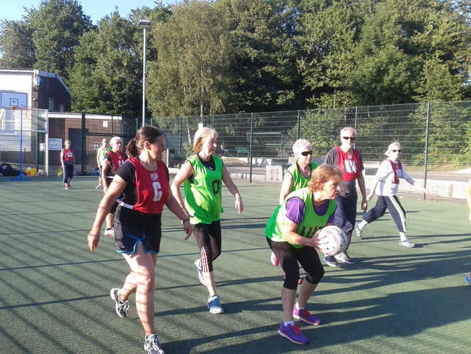 Walking netball close by