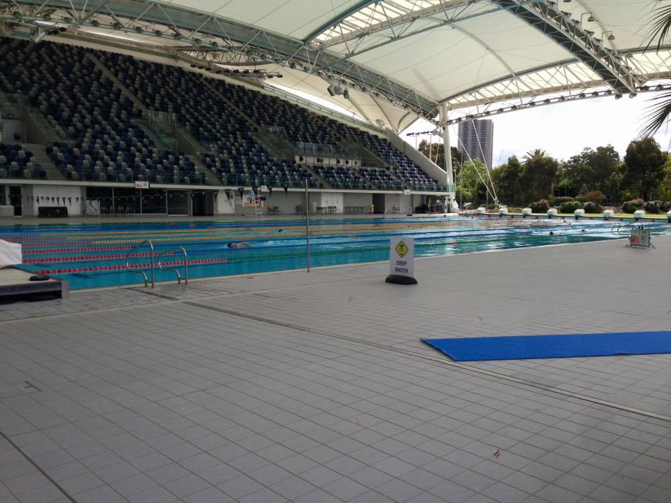 Flowrider at melbourne sports hub melbourne by mel buckley for Outdoor swimming pools melbourne
