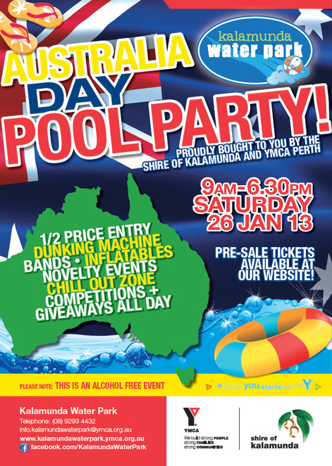 Australia Day Pool Party Kalamunda