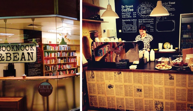 Booknook and bean Topham mall renew adelaide