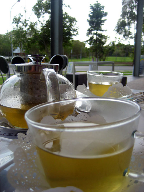 Tea or coffee in the outdoors is fantastic