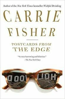 carrie fisher, postcards, edge, book