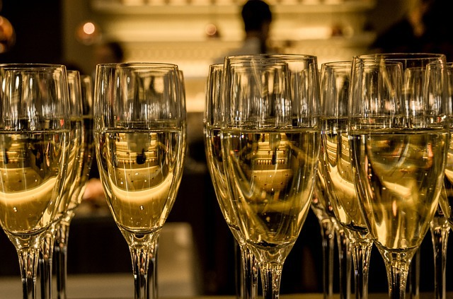 champagne glasses- pixabay image by sharonang