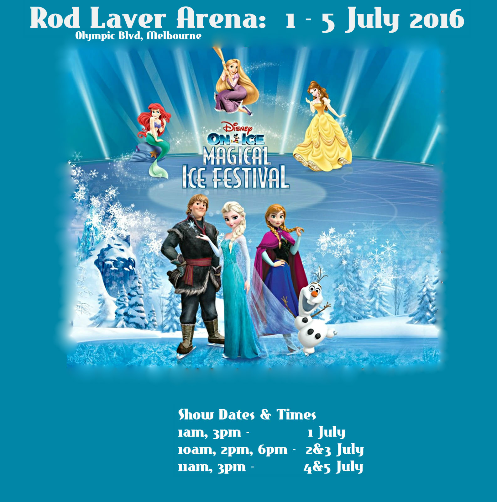 Disney On Ice Presents Magical Ice Festival Melbourne 2016