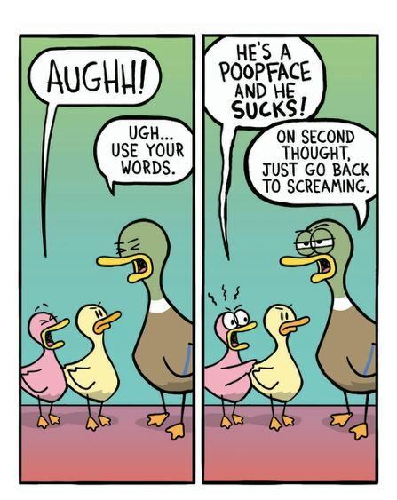 fowl language, Fowl Language Winging It, comics, comics about parenting, funny comics, Brian Gordon