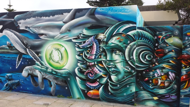 Fremantle, street art, art trail, underwater fantasy