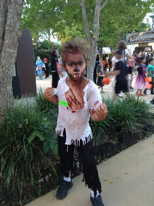 Halloween FestEvil, Apocalypse, spooktacular, ghoulishly, ghostly, Aussie World, Wasteland, enter at own risk, four epic mazes, roving entertainment, live music, spooky disco The Shed, trick or treat, rides, attractions, families, kids' zone, broomsticks, zombies, coffin break
