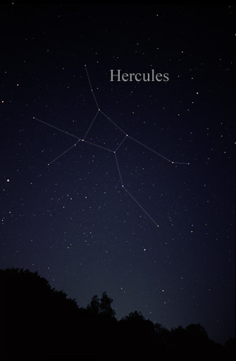 Image of the constellation Hercules courtesy of Till Credner @ Wikimedia