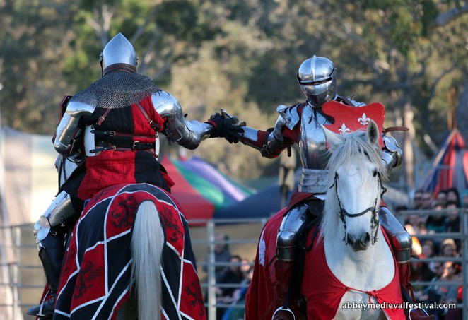 jousting, medieval, Abbey