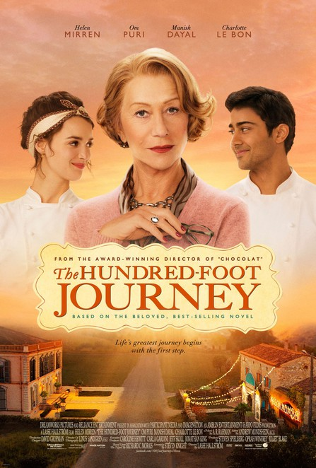 movie, the hundred foot journey, manish dayal, helen mirren, oprah winfrey, steven spielberg, om puri, charlotte le bon