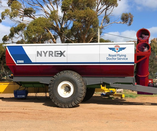 Nyrex chaser bin, Royal Flying Doctor Service, GrainKing, online charity auction, Dowerin Field Days