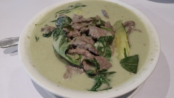 Parade Thai Restaurant, Green Beef Curry, Adelaide