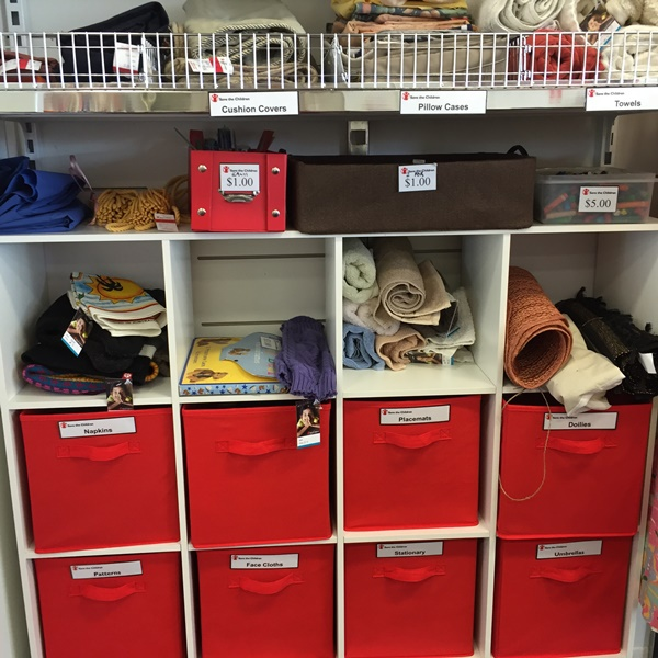 pull out drawers with miscellaneous goods