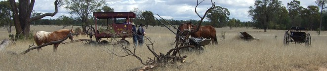 rest stops, horses, sulkies, gigs, riders, carriages, bush lore, australiana, cobb & co