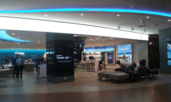Samsung siting area Melbourne Central