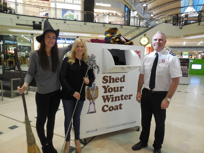 Shed Your Winter Coat Salvation Army Appeal with the cast of Wicked the Musical