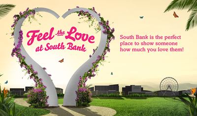south bank, valentines day, month of love, feel the love