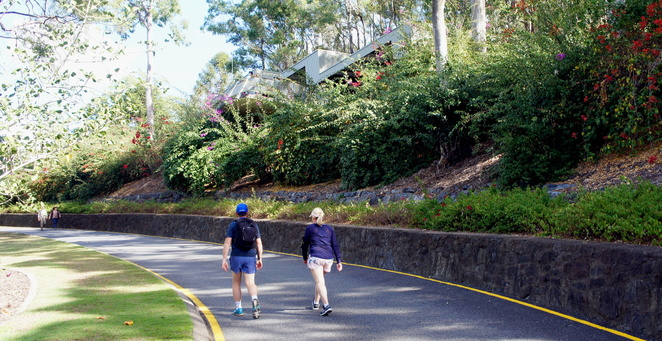 The easiest way is to follow the main road through the Botanic Gardens