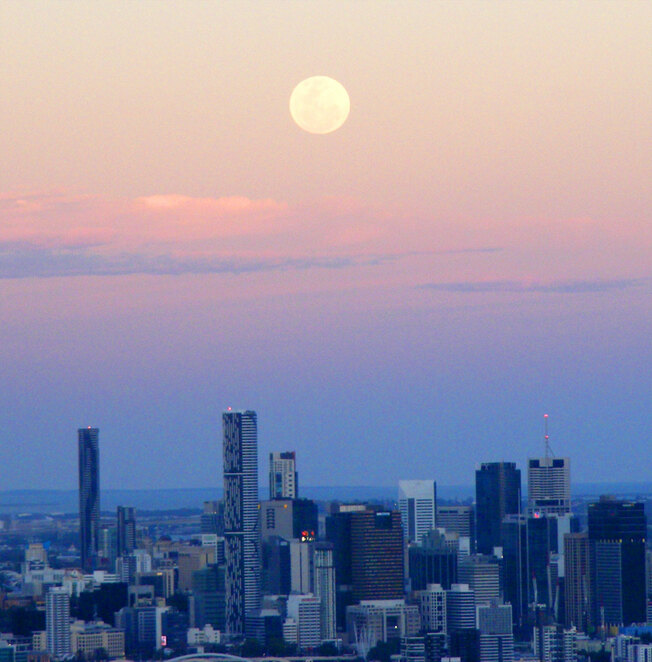 Viewing the supermoon rise just after sunset can give you great photos