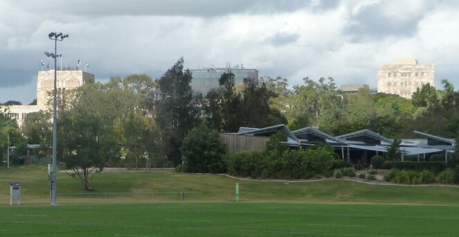 UQ campus from Rotary Park.