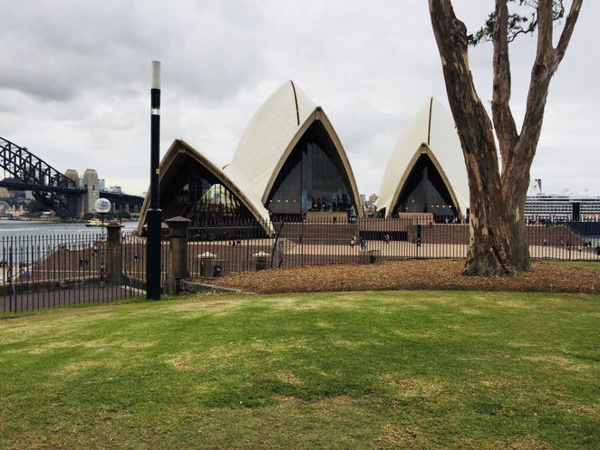 Views of the Opera House from within the Royal Botanical Gardens