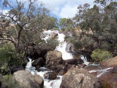 Waterfall near the cycle trail at John Forrest National Park