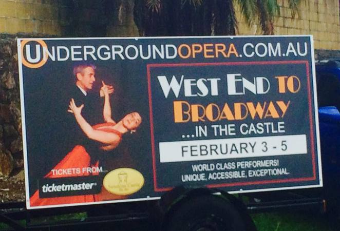 West End To Broadway - In The Castle, Bli Bli's Sunshine Castle, Underground Opera Company, The Movie Musicals, three dates, February 2017, golden years of Hollywood, Dale Pengelly, Louise Dorsman, Lionel Theunissen, Pia Frangiosa, Castle's Banquet Hall, Valentine's Day
