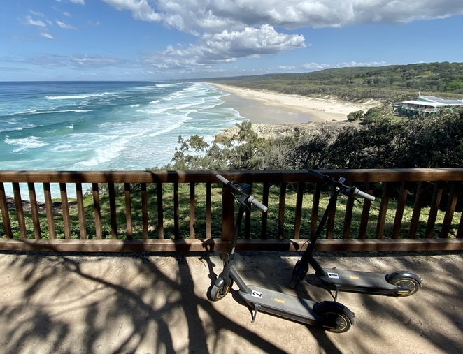 Visit Straddie's stunning beaches with ease on Yura Banji's electric scooters