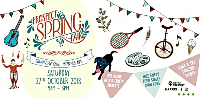 2018 prospect spring fair, community event, fun things to do, broadview oval, city of prospect, local bands, main stage, katie wright dynamite, bonfire, bonnie lee galea, delia obst, trav collins music, max savage and the false idols, adelaide afrobeat collective, lost romaldo groove, snooks la vie, entertainment, musicians, multicultural food, kids entertainment, petting zoo, jumping castle, sports zone, arts and crafts, market stalls, dog friendly