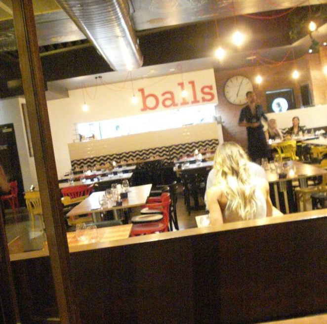 balls restaurant, the meatball company, fox hotel, places to eat near qpac