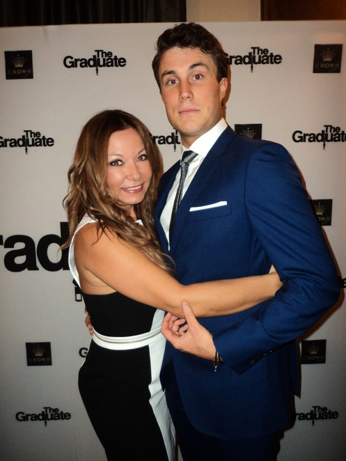Betty Samis and Timothy Dashwood at The Graduate after party