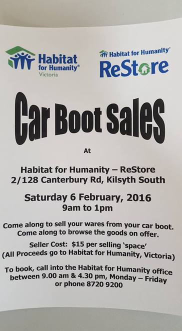Car Boot Sales Charity Op-shop second hand