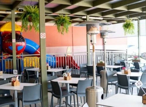 child friendly dining, family dining, playground, bistro