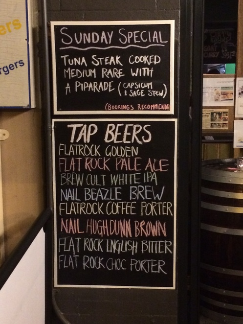 Craft Beer North Shore Flat Rock Brew Cafe Blackboard