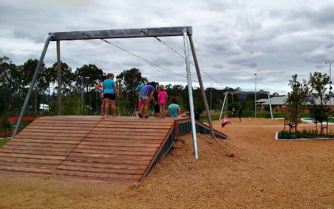 darlington parklands yarrabilba playground flying fox